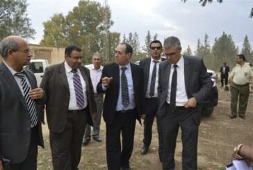 السّيد عبد الله الرّابحي كاتب الدّولة المكلّف بالموارد المائية و الصّيد البحري يؤدّي زيارة إلى ولاية سيدي بوزيد
