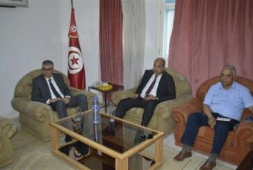 السيد أنيس ضيف الله والي سيدي بوزيد يستقبل ممثّلين عن جمعيتي COSPE و ANCI الإيطاليتين و جمعية CitESS سيدي بوزيد