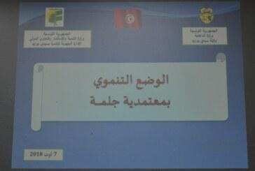 مجلس جهوي خاص بمتابعة الوضع التّنموي بمعتمدية جلمة بإشراف السيد أنيس ضيف الله والي سيدي بوزيد