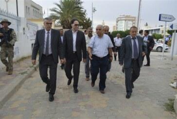 السّيد محمّد زين العابدين وزير الشّؤون الثّقافية يزور ولاية سيدي