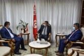 جلسة عمل مع السيد وزير التجهيز والاسكان والبنية التحتية لمتابعة عدد من المشاريع