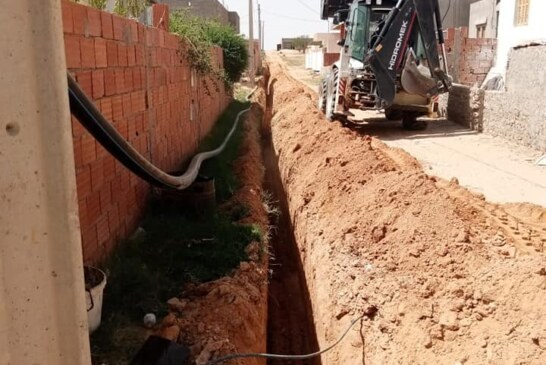 مشروع تزويد بعض الأحياء من معتمدية منزل بوزيان بالماء الصالح للشرب